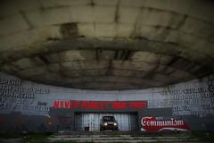 Buzludzha Outside (Rumena Zlatkova) Tags: communism buzludzha