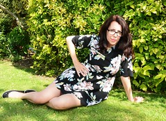 Carmen_2614 (Fast an' Bulbous) Tags: girl woman brunette hot sexy chick babe fress garden summer england mature milf long hair dress glasses outdoor people lovelylisa73