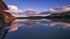 Pure (landsendula (away)) Tags: sunset clouds reflections calm silence limpid tidalriver bluepinkred tokina1116mm newlenstesting