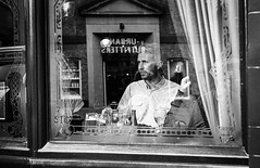 Inn Prince (Adam Lee Guitarist) Tags: leica man black guy london garden pub inn europe prince covent m3