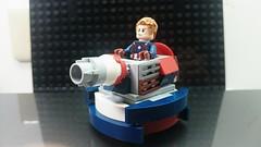 Micro Mini Tank : Cap's ver. (danielhuang0616) Tags: america war tank lego chibi mini civil captain micro marvel moc 2016
