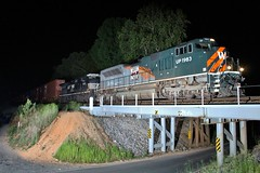 Western Pacific on NS 23N (James Patrick Kolwyck) Tags: up night train ga georgia photography tn state pacific ns tennessee union norfolk line southern western ge wp railfan emd intermodal railfanning howardsville c409w sd70ace