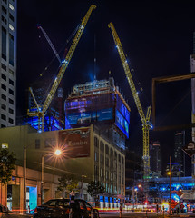 rising salesforce tower 4/2016 (pbo31) Tags: sanfrancisco california city urban panorama motion black color tower architecture night dark spring construction nikon traffic crane large panoramic structure bayarea april salesforce stitched roadway missionstreet 2016 lightstream boury pbo31 d810 financialdistrictsouth