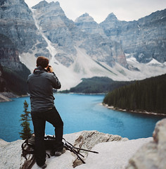 image by image (manyfires) Tags: lake canada mountains film analog forest mediumformat square landscape michael woods honeymoon photographer roadtrip hasselblad banff banffnationalpark morainelake hasselblad500cm