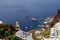 Port view (Steenjep) Tags: sea summer holiday port boat harbour santorini greece oia ferie grækenland