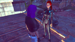 590 (Beth Amphetamines) Tags: wallpaper green rooftop hair giant liberty prime robot outfit screenshot eyes hand purple ghost shell gits redhead synth inthe commonwealth lizzy sentinel destroy kusanagi cybernetic n7 motoko fallout4 vaultsuit