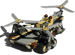 Pegasus Diesel Cargo Helicopter Mk. XXVII (front) (aillery) Tags: horse pull flying back chopper desert lego mesh diesel aircraft pegasus military transport cargo helicopter vehicle motor blade triple carrier copter heli motorized supply rotor adventurers courser nonelectric dieselpunk