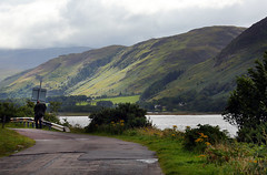 Weary traveller (crafty1tutu (Ann)) Tags: road travel mountain lake holiday green water landscape scotland highlands unitedkingdom outdoor hiking hill tourist hills mountainside loch grassland foothill 2015 anncameron canon5dmkiii crafty1tutu canon28300lserieslens