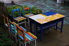 Desk and chairs (Shun Daddy) Tags: travel zeiss 50mm prime f14 sony snapshot taiwan full carl frame  standard  za  ff kenting planar 2016   planart1450 mirrorless  a7s