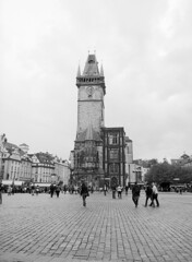 Old Town Hall II (holtelars) Tags: blackandwhite bw 120 film monochrome architecture rollei analog mediumformat 645 prague pentax praha czechrepublic analogue 6x45 oldtownsquare f28 45mm czechia 100iso pentax645 oldtownhall filmphotography rodinalspecial classicblackwhite 645n rpx homeprocessing filmforever smcpentaxfa r09spezial rpx100 rolleirpx100 larsholte compardr09spezial