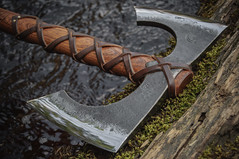 Riverheart - Double Blade Viking's Axe (Northmen Guild) Tags: john hand battle double tools made axe forged handtools bladed neeman vikingaxe vikingbeardedaxe vikingbattleaxe