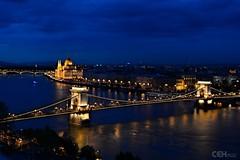 Budapest blue hour