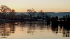 Pamvotis sunset (m@nos-st) Tags: travel trees light sunset lake water reflections greece ioannina