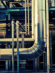 Lines (Paterdimakis) Tags: blue plant abstract color art yellow industrial factory object fine pipe machine line shape engineer