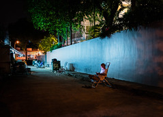 Night Watch. (Presence Inc) Tags: street light portrait people urban stilllife abstract colour texture geometric night 35mm dark landscape photography design singapore mood shadows decay candid sony streetphotography wideangle simplicity layers everyday fullframe shape cinematic isolated spaces compact urbanscape mirrorless rx1r rx1rm2