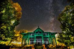 Dedication (umar36) Tags: longexposure trees pakistan night canon landscape residency milkyway jinnah quetta quaidiazam 70d 25december baluchistan ziarat muhammadalijinnah umar36