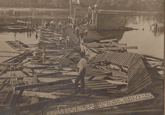 Wisconsin River Bridge Destruction, c 1905