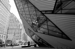 20130521 (zumakuma) Tags: road street toronto reflection building lines architecture rom royalontariomuseum bloorstreet blipfoto