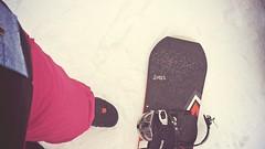 My rental board ( Ginny Le ) Tags: snow snowboarding snowfall firsttime ginny bigbear snowvalley ginnyle iphone5s firsttimeplayingsnowboard firstimeseeingsnowfall