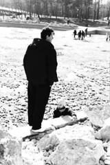 (Adrian Alexe) Tags: park family blackandwhite sun white lake black monochrome kids children kid day child outdoor father son romania moment bucharest bucuresti decisive roumania