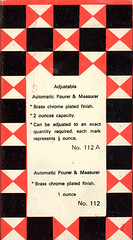 112A Pourer (Arne Kuilman) Tags: red white black color colors design 60s box scan retro font 70s packaging blocks v600 simple past bold verpakking kleuren doos vroeger ontwerp pourer 1ouncepourer