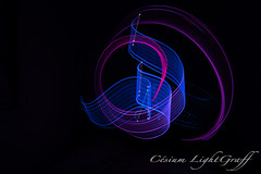 Blue light Pink (csium) Tags: longexposure light lightpainting color night exposure led draw calligraphy lightgraff