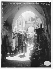 Jewish Quarter, Jerusalem (LOC) (The Library of Congress) Tags: street blackandwhite bw white news black building brick stone blackwhite riot alley mediterranean jerusalem pussy east shops bain quarter hood service loc libraryofcongress barter jews judaism middle bandw eastern trade ghetto section whiteblack xmlns:dc=httppurlorgdcelements11 dc:identifier=httphdllocgovlocpnpggbain25934