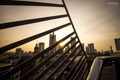 Frankfurt Skyline Sunset (Steffen Dufner Photography) Tags: sunset urban skyline architecture contrast canon frankfurt wideangle mainhatten 60d