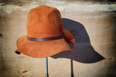 2/18/16 Floppy Hat on a Stick (Karol A Olson) Tags: hat windowdisplay urbanoutfitters georgetown washington dc project3662016 feb16 shadow 72shadows 116picturesin2016 fave2016