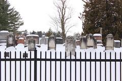 Bedford Protestant Cemetery (pegase1972) Tags: winter snow canada cemetery fence quebec hiver qubec neige qc montrgie cimetire monteregie