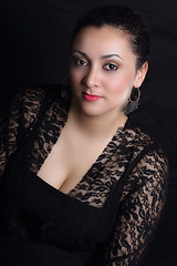 Elegant (Cristina Tiurean Photography) Tags: portrait woman black girl beautiful beauty fashion canon dark studio glamour dress lace african posing sensual vogue attractive marocco elegant fashionable