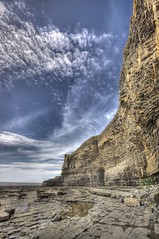 Steaming cliffs (pauldunn52) Tags: sky heritage beach wales clouds coast patterns rocky cliffs glamorgan limestone layers monknash