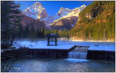 Schiederweiher im Winter (Karl Glinsner) Tags: schnee winter lake snow mountains alps reflection landscape austria see österreich outdoor berge alpen landschaft spiegelung oberösterreich gebirge upperaustria totesgebirge windischgarsten