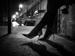 Heels (arsamie) Tags: street woman white black flower love water girl beauty rose night river lights la high shoes day jimmy jenny choo heels valentines sur provence isle tar sorgue