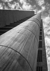 Contrapicado (Camilo Towers) Tags: chile city santiago bw white black architecture de arquitectura ciudad arquitecture contrapicado