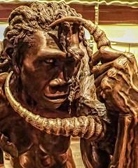 Another view of Bronze sculpture of a female Homo Erectus hunter with an antelope kill 1.89 million - 70000 B.P. (mharrsch) Tags: sculpture statue female bronze washingtondc smithsonian human hunter prehistoric hominid nationalmuseumofnaturalhistory homoerectus mharrsch