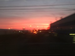 Photo of Sunrise from the 0604 from leicester
