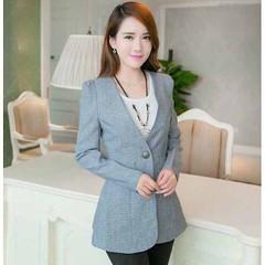 เสื้อสูท แฟชั่นเกาหลีผู้หญิงหลังระบายเข้ารูปสวยหรูมาก นำเข้า สีเทา ไซส์L - พร้อมส่งTJ7338 ราคา1100บาท #เสื้อสูท #เบลเซอร์ เสื้อสูททำงาน หลังระบายกระดุมหน้า1เม็ดเข้ารูปสวยหรูสำหรับสาวออฟฟิสเทรนด์แฟชั่นเกาหลีรุ่นใหม่ จะใส่กับเสื้อเชิ้ตในวันทำงานหรือใส่แบบลำ