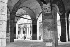 (justsamuraj) Tags: street new old city travel italien bw italy white black milan art digital shopping mono reisen europa europe italia milano sightseeing explore stadt mailand strase