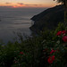 Sunset over Tyrhanian sea near Riomaggiore in Riomaggiore, Liguria with Panasonic DMC-GX7