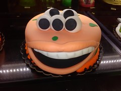 Burgers alive cake (PhotoJester40) Tags: food smile face cake mouth eyes desert burger teeth indoors inside