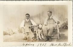 Men and their Dalmatian (912greens) Tags: men dogs vests backyards dalmatians mentogether folksidontknow dalmatio