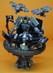 Decibelle_24 (Shadowgear6335) Tags: orange radio robot factory lego good technic hero bionicle mech moc shadowgear6335 bionicle2015