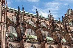 Flying Buttresses, Strasbourg Cathedral (mahesh.kondwilkar) Tags: france strasbourg alsace avalon flyingbuttresses strasbourgcathedral romanticrhine cathdralenotredamedestrasbourg avalonwza