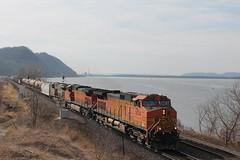 BNSF 5034 (CC 8039) Tags: wisconsin river mississippi rail trains genoa bnsf citi crex c449w ess44ac