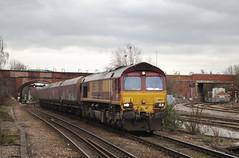 66132 Knottingley 24/03/2016 (Flash_3939) Tags: uk station train march diesel rail railway db locomotive coal freight 2016 class66 ews dbcargo railfreight knottingley 66132