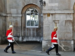 Photo Bombed By The Life Guards (standhisround) Tags: uk london window westminster reflections soldier army guards horseguards lifeguards householdcavalry queensguards hww windowswednesday