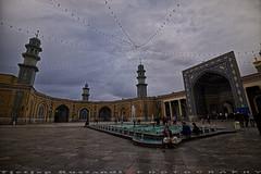 Qum mosque ablution at dusk (T   J ) Tags: iran fujifilm qom qum xt1 teeje fujinon1024mmf4