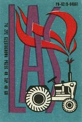 polish matchbox label (maraid) Tags: las tractor fire label poland polish flame packaging matchbox