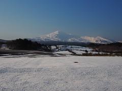 White will be changed to yellow (murozo) Tags: blue sky white mountain snow japan spring     akita      mtchokai yurihonjo